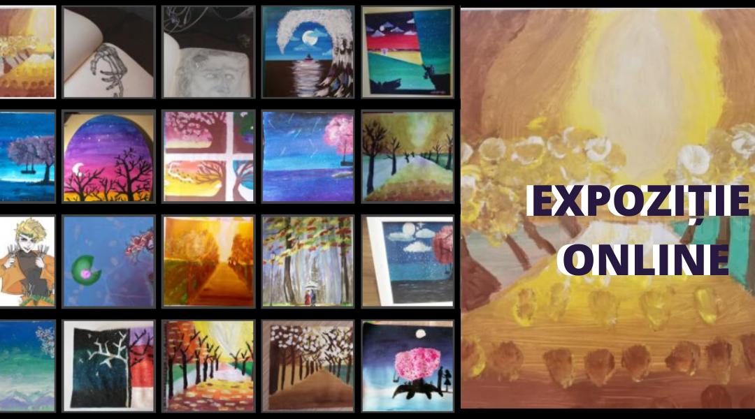"""Expoziție online de pictură și grafică realizată de elevi ai Școlii """"Bogdan Vodă"""" din Câmpulung Moldovenesc"""